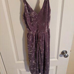 Velvet purple dress